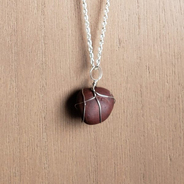 handcrafted burgundy necklace
