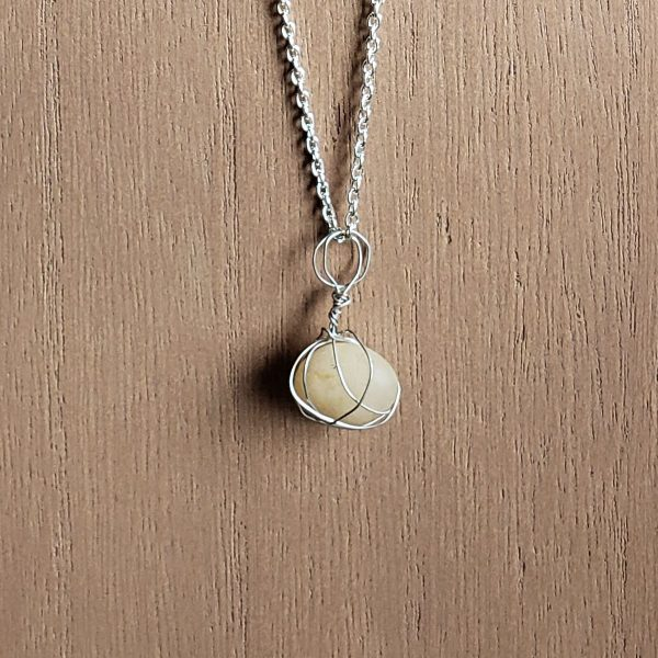 Handcrafted yellow stone necklace