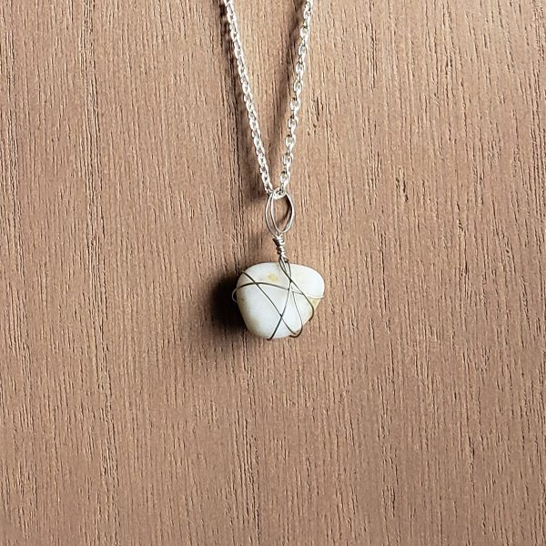 Homemade beach sea glass necklace